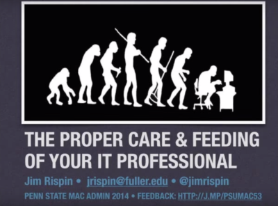 The Proper Care & Feeding of Your I.T. Professional